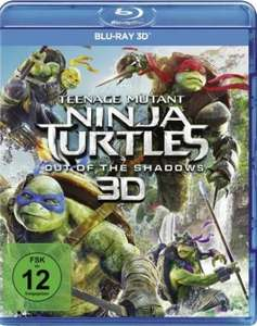 (Media-Dealer) Teenage Mutant Ninja Turtles - Out of the Shadows - Blu-ray 3D für 10,99 EUR