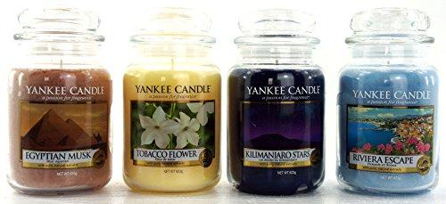 Yankee Candle Duftkerzen-Set, Klassiker-Geschenk-Set, große Gläser, 4 Stück