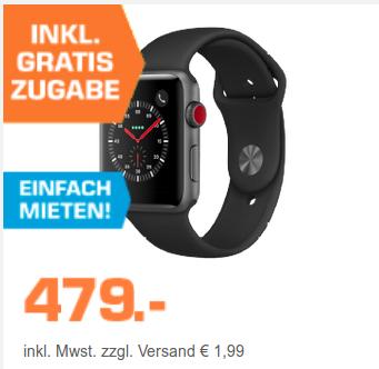 Apple Watch Series 3 GPS + Cellular, 42mm + zusätzliches Sportband