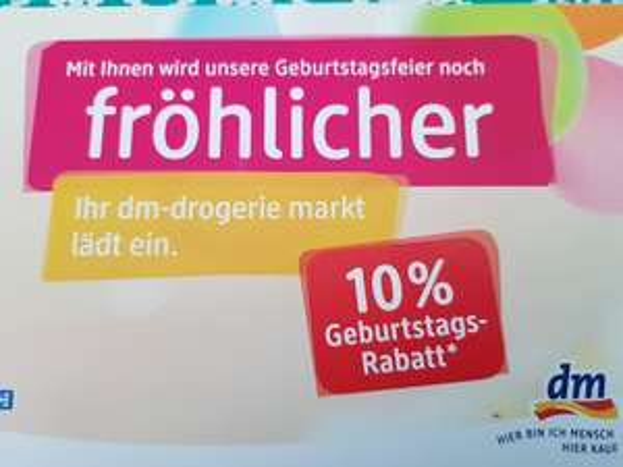 Bremerhaven: dm Obere Bürger, 10% auf alles