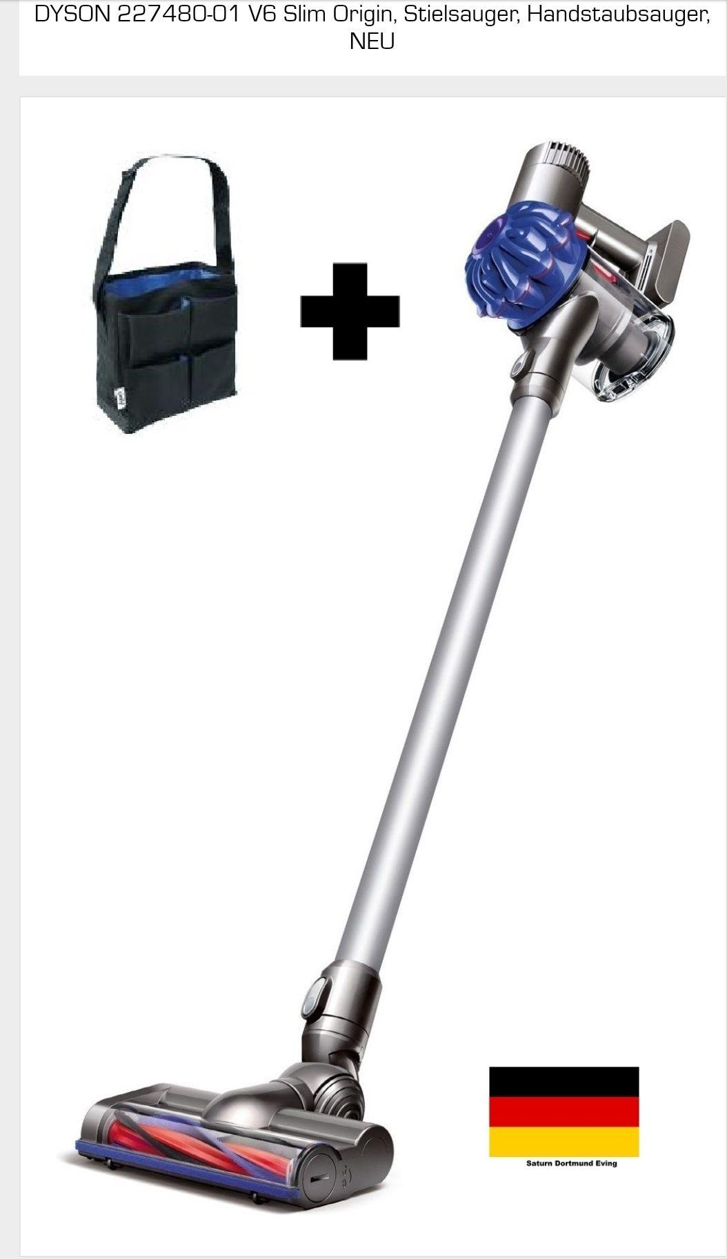[Saturn @ eBay] DYSON Akku-Hand-und Stielstaubsauger V6 Slim Origin, 350 Watt, beutellos + Zubehörtasche