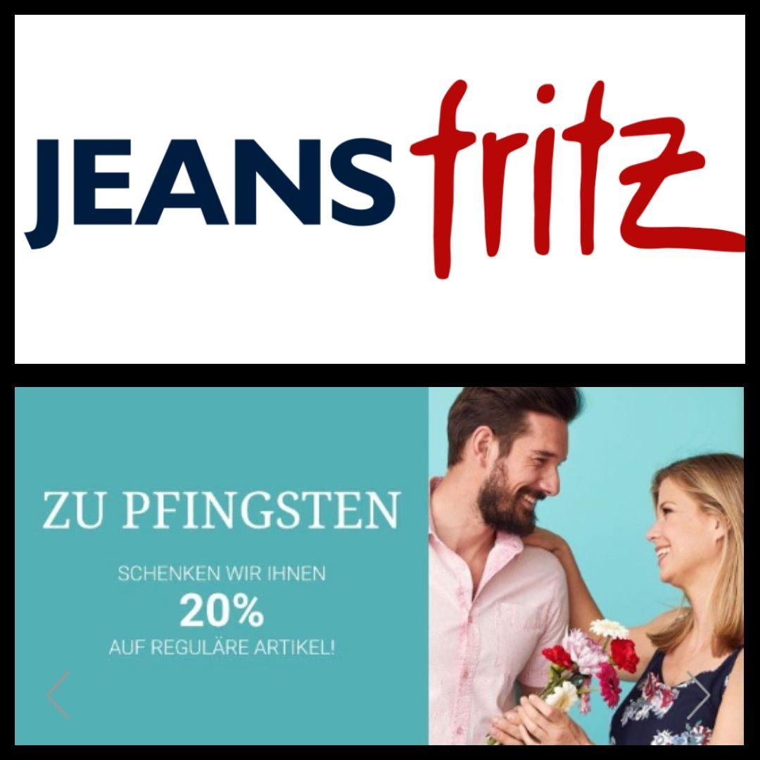 [Jeans Fritz online] 20% auf reguläre Artikel zu Pfingsten