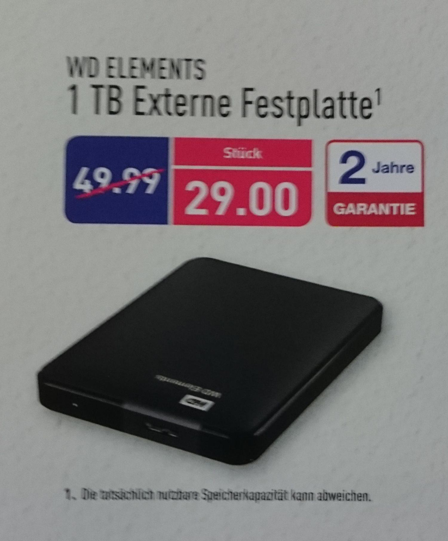 [Lokal Aldi OL-Wechloy] WD Elements Portable 1TB und weitere gute Angebote
