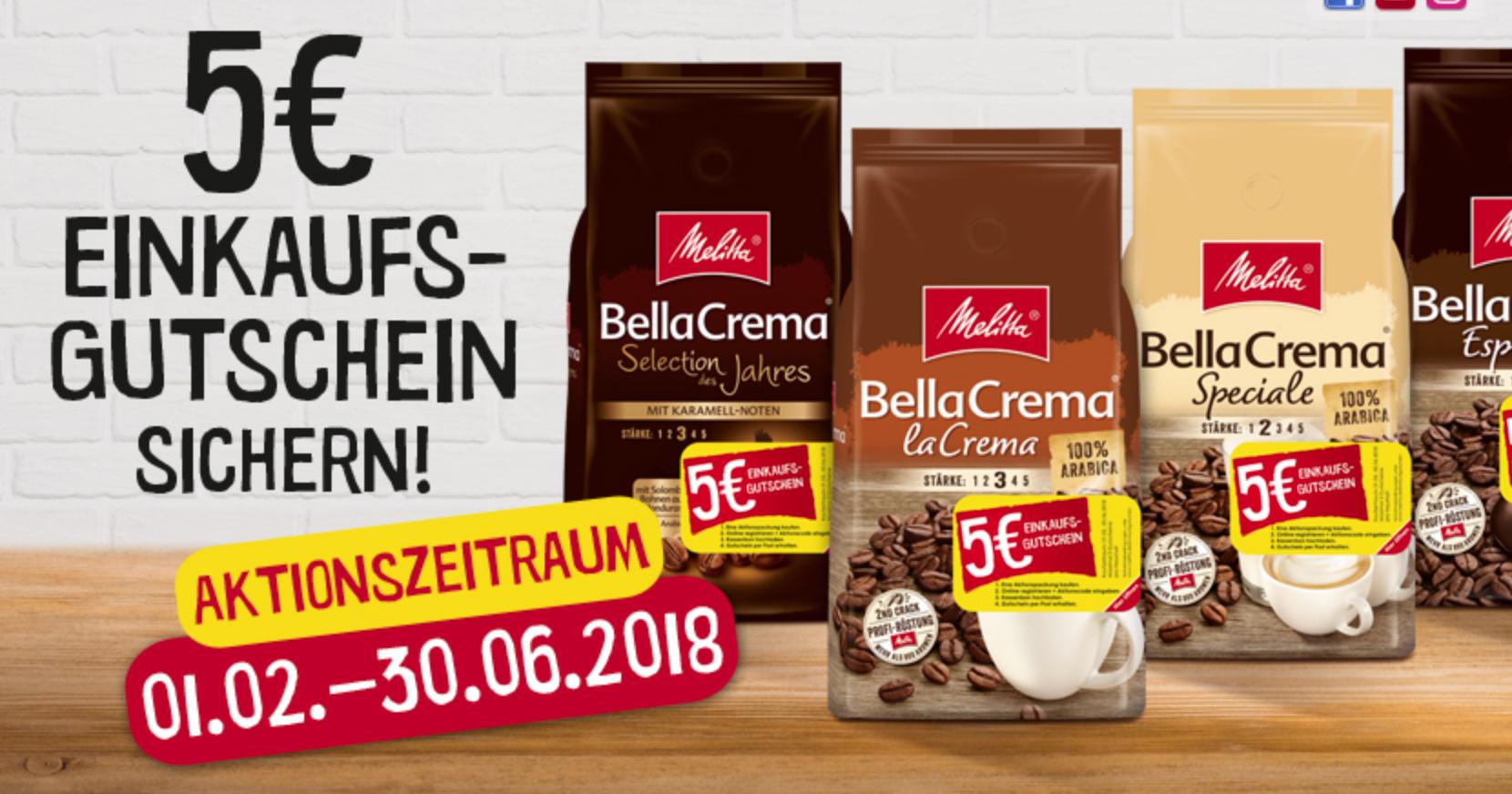 Cashback: Melitta BellaCrema für rechnerisch 3,88€/Kilo