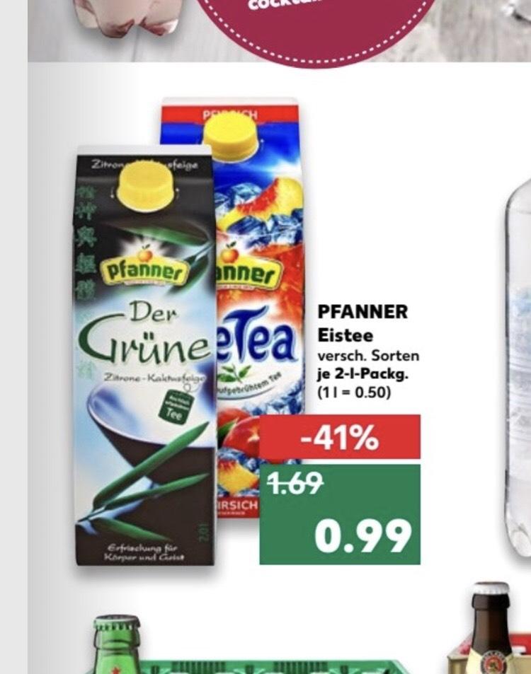 Pfanner Eistee 2l verschiede Sorten für 99ct ab 24.05 [Kaufland]