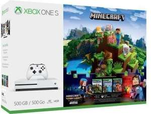 "Microsoft Xbox One S ""Minecraft Adventure Bundle"" + 3 Monate Xbox Live Gold für 162,48€ + 10€ Versand nach DE [Mediamarkt.at]"
