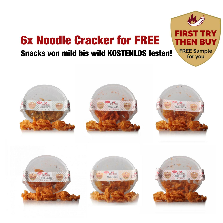 Nudelcracker 6 Pack zur jeder Bestellung Gratis