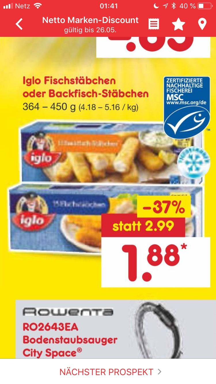 Fischstäbchen bei Netto für 1,88€