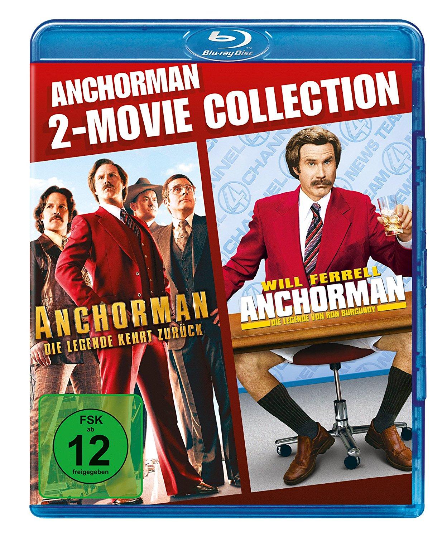 Anchorman 1 & 2 Box (2x Blu-ray) für 5,55€ (Amazon + Dodax)