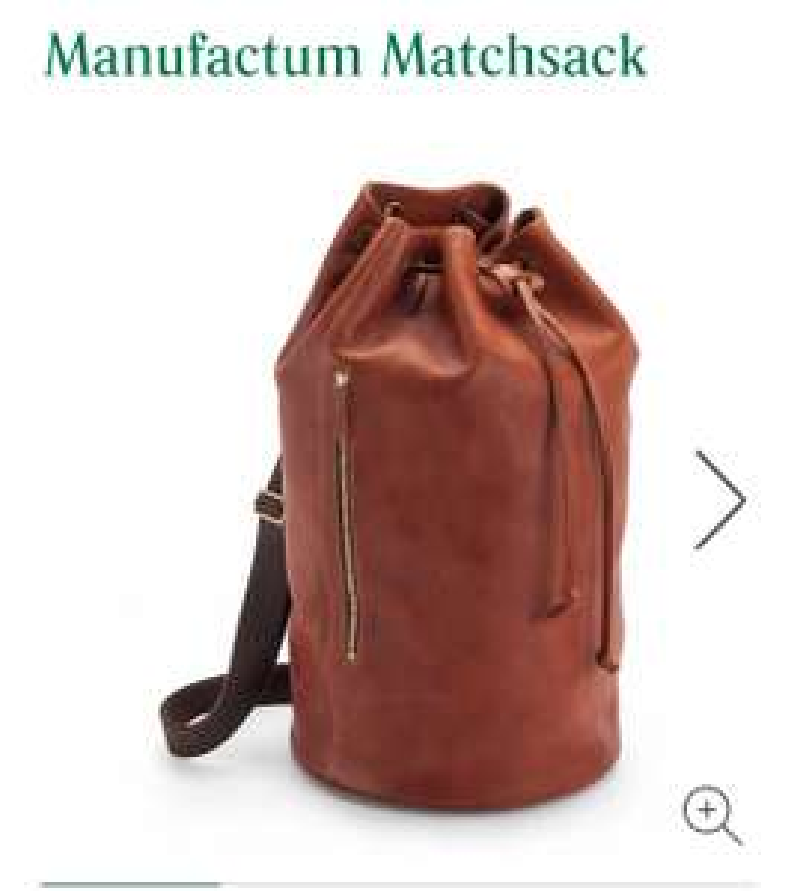 "Manufactum Matchsack aus Rindleder ""Made in England"""