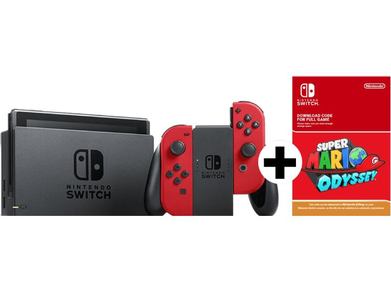 NINTENDO Switch Rot + Mario Odyssey (DLC) für 304,14€ [Mediamarkt.at]