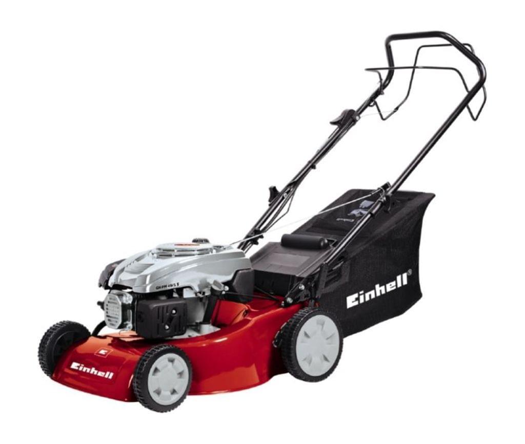Einhell Benzin-Rasenmäher GC-PM 46/1 Leistung 2 kW Schnittbreite 46 cm mit Radantrieb für 159,95€ [Real]