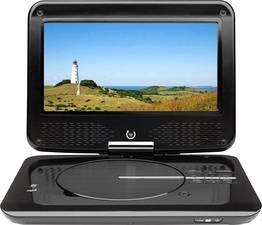 Dual LCD-TV 23cm 9 Zoll Portable DVD-Player DVD-P 905 Schwarz bei Digitalo