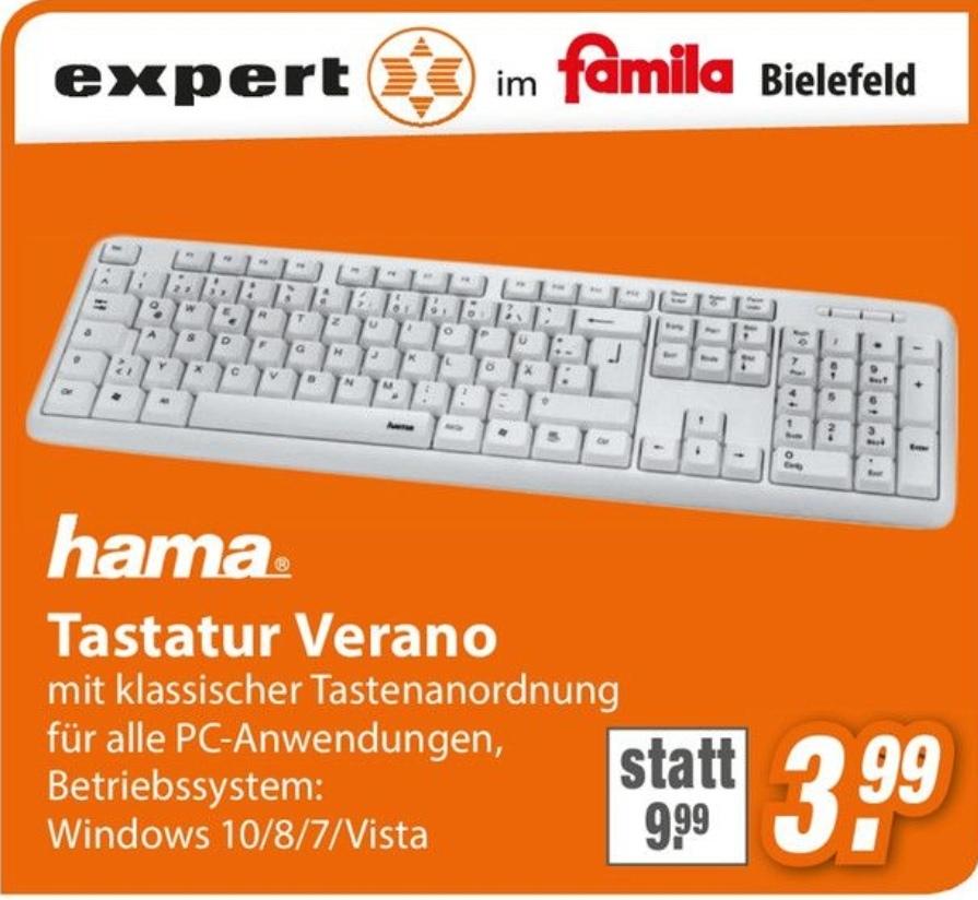 [ lokal Bielefeld ] Tastatur hama Verano für 3,99@ Expert im famila