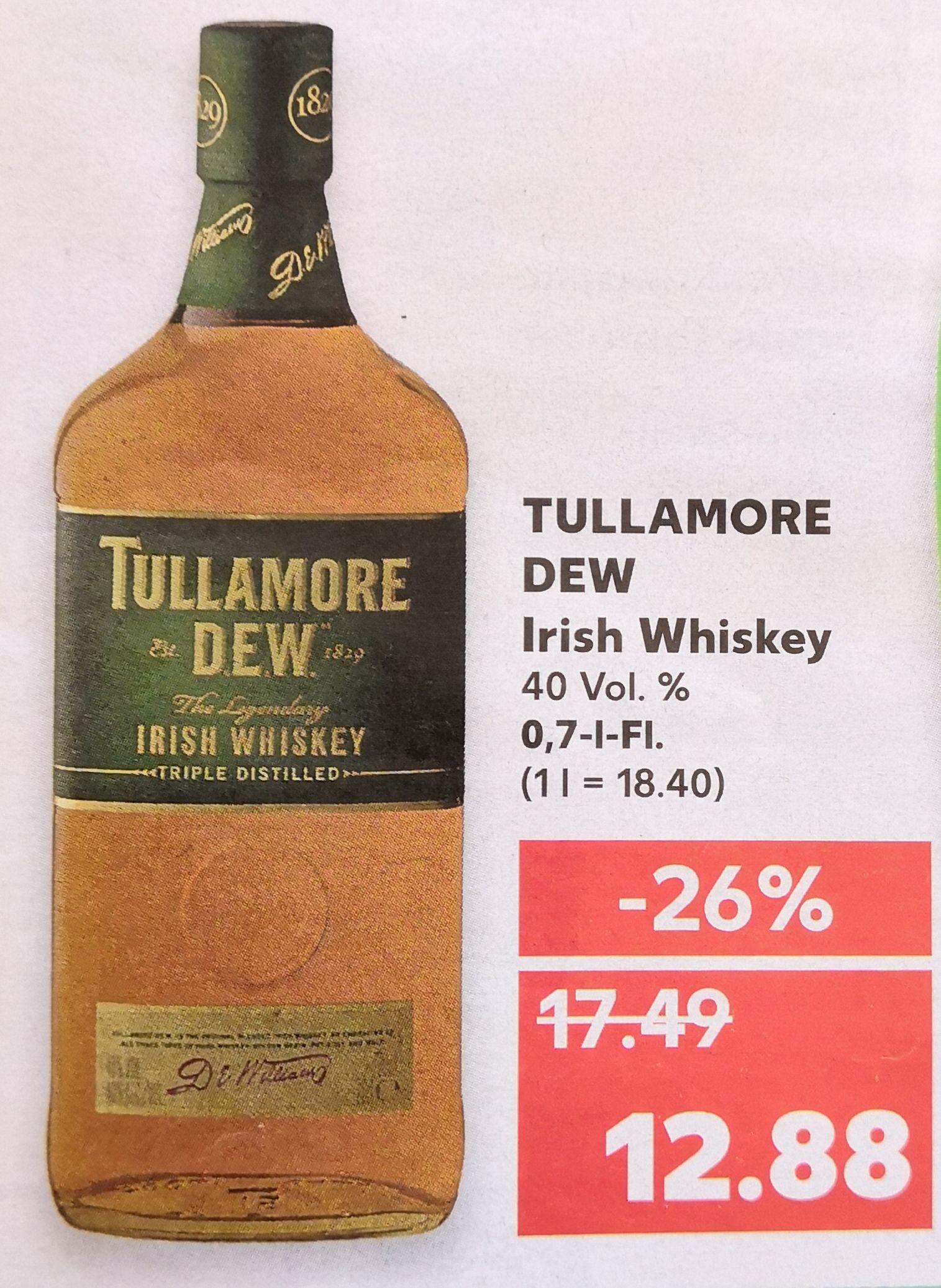 [Kaufland] Tullamore Dew Whisky - 0,7l Flasche für 12,88€