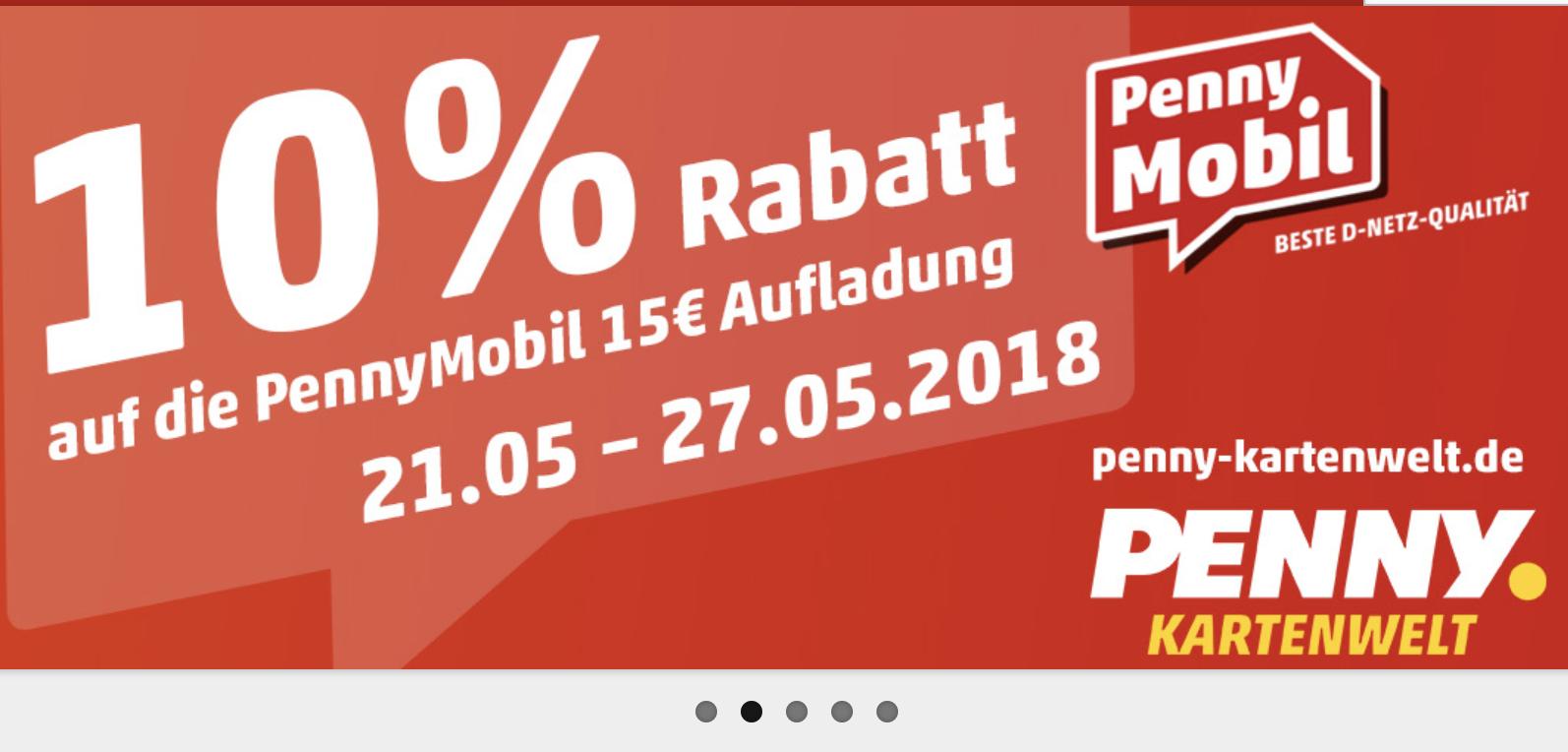 Penny Mobil - 10 % Rabatt