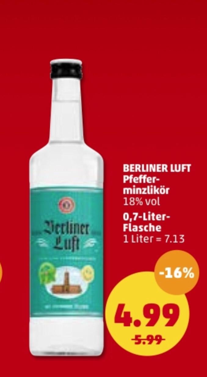Berliner Luft || Pfefferminzlikör || 0,7l || 4,99€ || [Penny]
