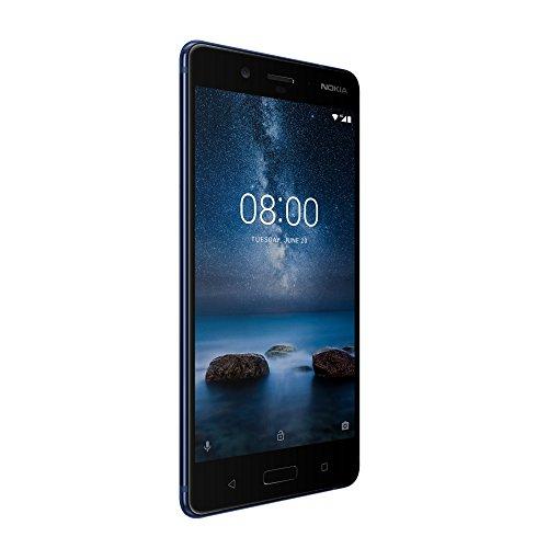 Nokia 8 13,4 cm (5,3 Zoll) Smartphone - deutsche Ware, 128 GB ROM, 6GB RAM