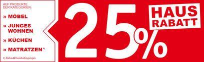 25% Haus Rabatt auf Möbel, Junges Wohnen, Küchen, usw. bei XXXLutz [Lokal]