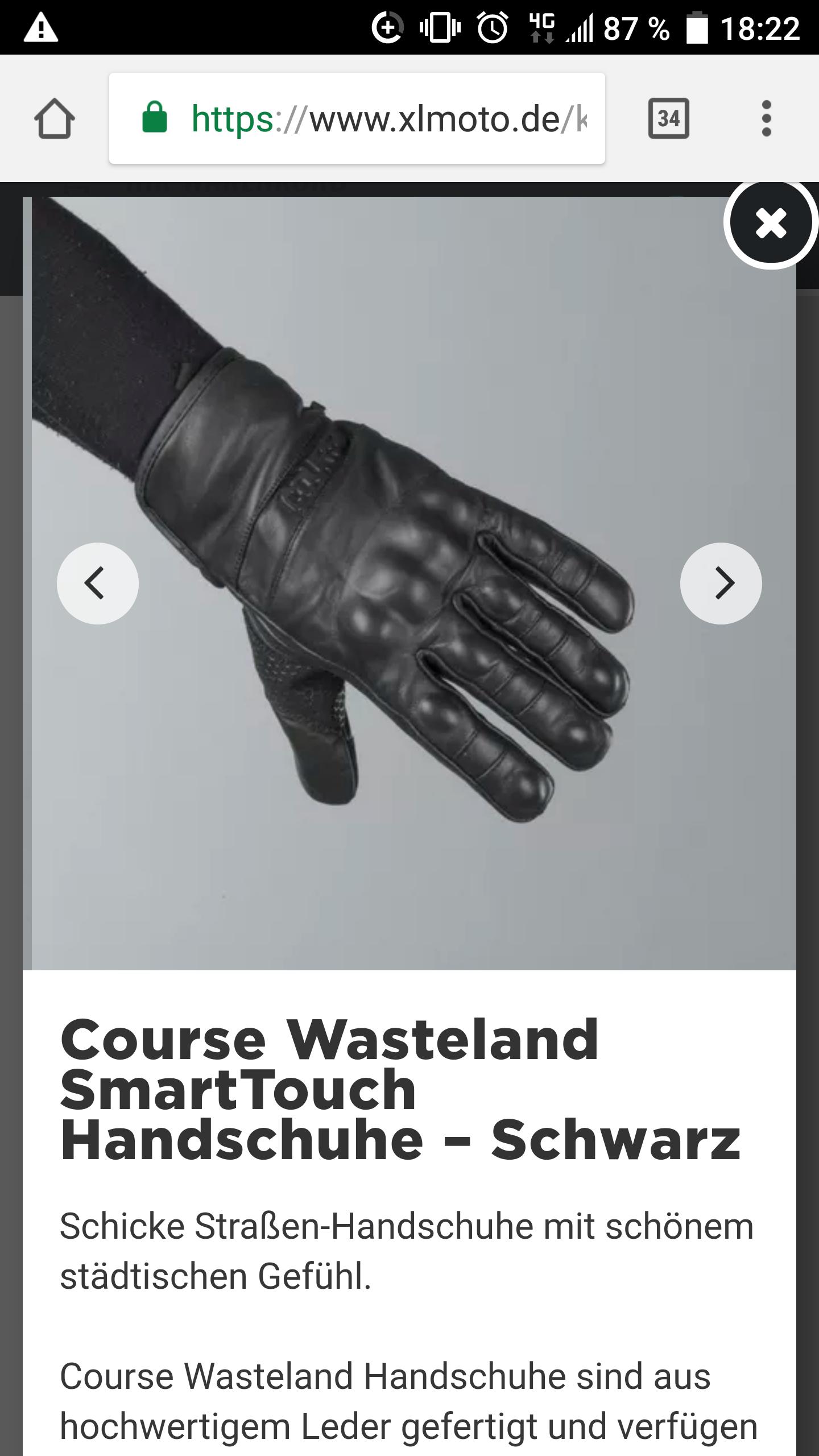 Motorrad Leder Handschuhe von Course