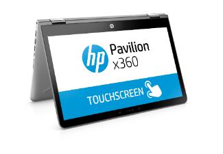 HP Pavilion X360 14-BA131NG, Convertible mit 14 Zoll, 256 GB Speicher, 12 GB RAM, CORE™ i7 Prozessor, Windows 10 Home (64 Bit), Silber/Schwarz [Saturn]
