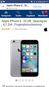 IPhone 6 32 Gb in Space Grey bei Real