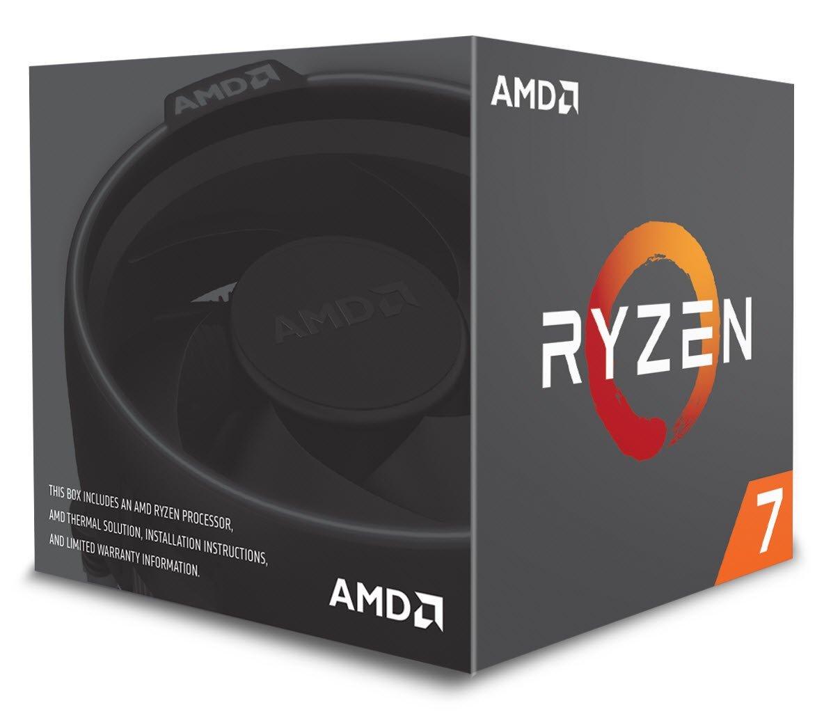 AMD Ryzen 7 2700 Prozessor - 8 Kern, bis 4.10 GHz (Boxed) mit Wraith Spire Kühler (Amazon.es)