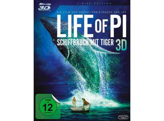 (Dodax) Life of Pi - Schiffbruch mit Tiger 3D Blu-Ray für 8,93 EUR