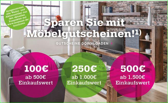 Mömax Gurtschein von 100 € bis 500 €