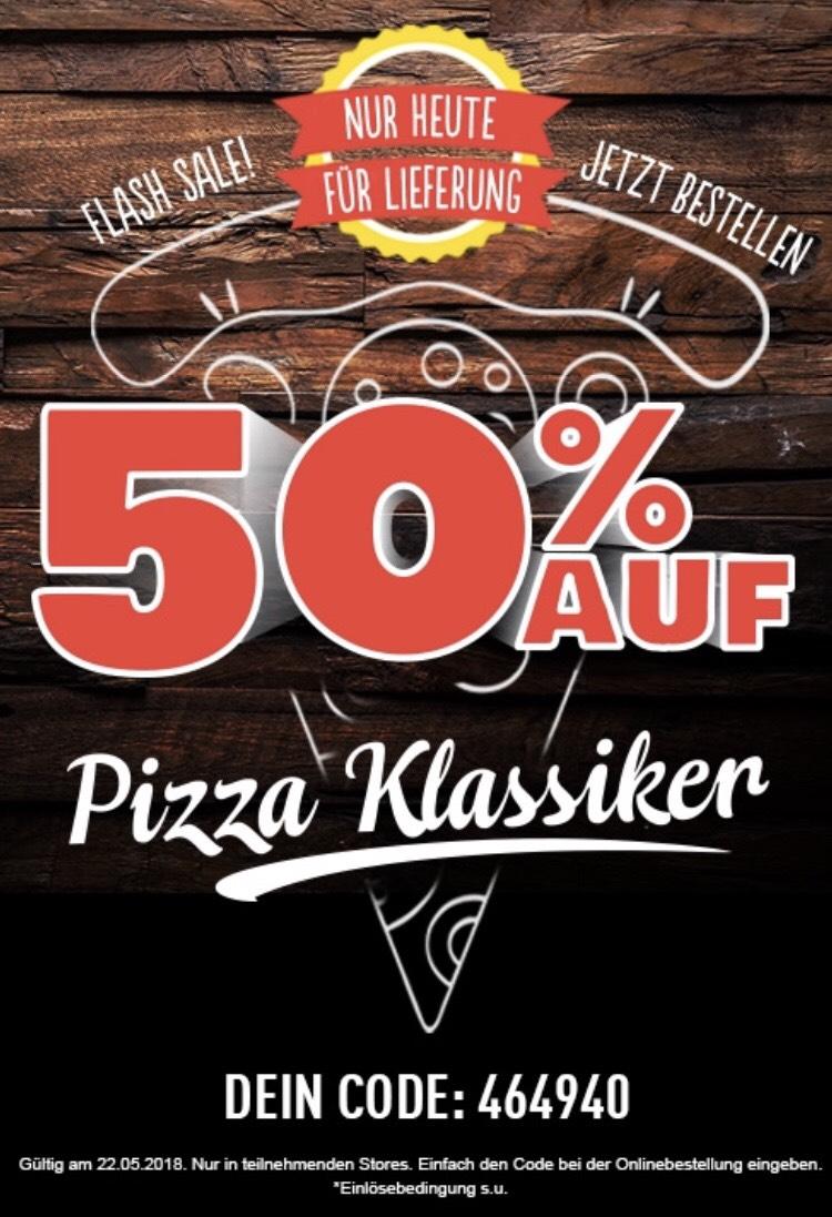 NUR HEUTE: Domino's Flash Sale 50% Rabatt bei Lieferung