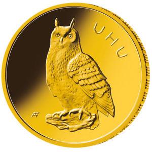 neue deutsche 20 Euro Goldmünze UHU 2018 1/8 oz Gold zum deutschlandweiten Tiefstpreis