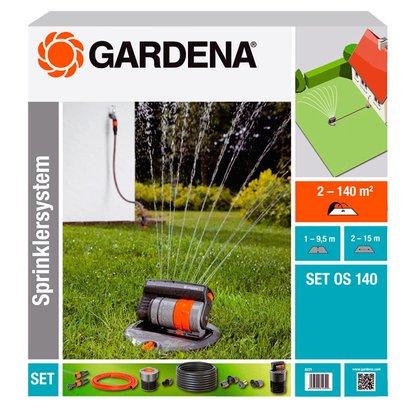 Gardena Komplett-Set mit Viereck-Versenkregner OS140 für Flächen bis zu 140 m² mit 5% NL-Gutschein für 72,19 EUR