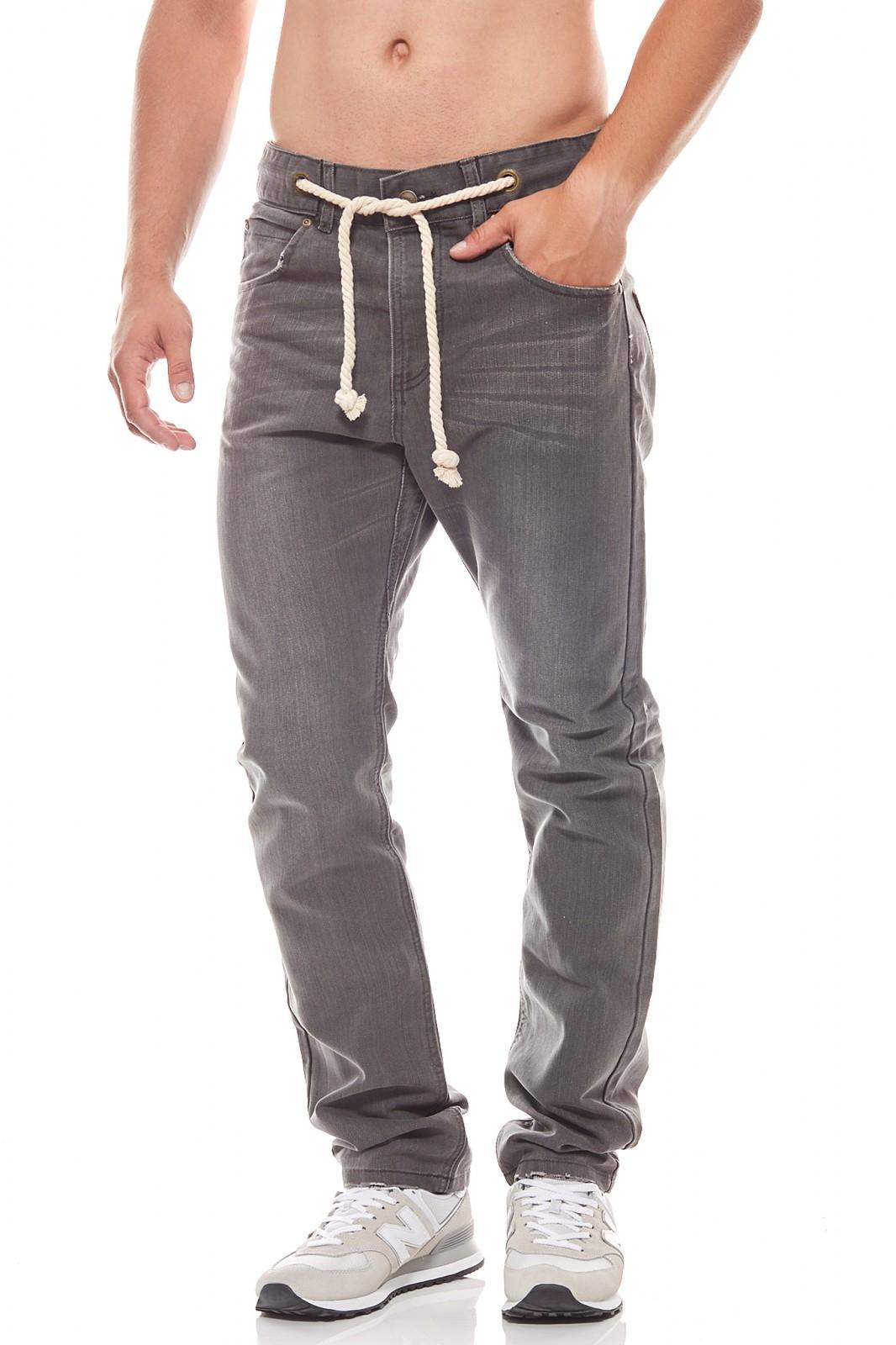 SOMeWEaR Herren Jeans Grau mit Gürtelband für 19,99€