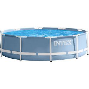 Gartenpool mit 4,57m Durchmesser Intex Prism Rondo incl. Kartuschen-Filteranlage