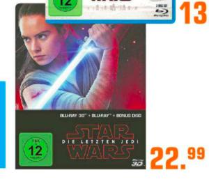 Star Wars: Die letzten Jedi (2D & 3D Steelbook Edition) Limited (3D Blur-ray + 2D) [Lokal Saturn Dortmund]