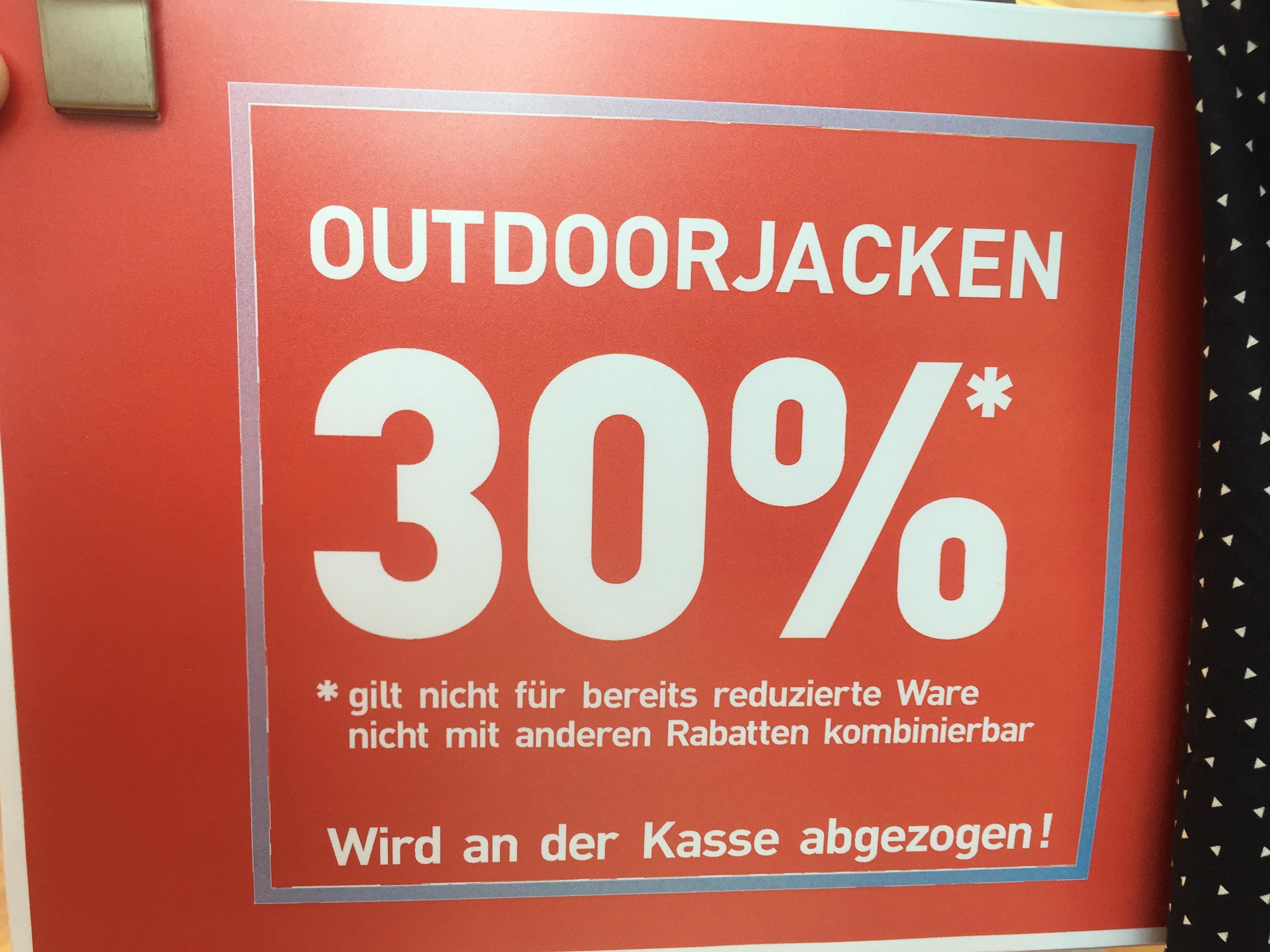 [Dodenhof] 30% Rabatt auf Outdoorjacken / 30% Auf Jacken im Onlineshop