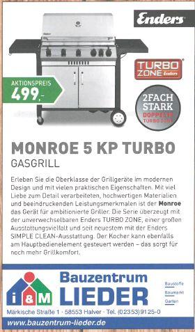 Enders Monroe 5KP Gasgrill - LOKAL Halver