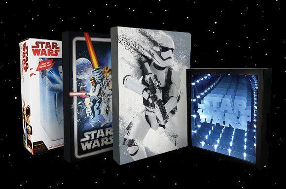 Star Wars Luminart Wandbilder mit Leuchtfunktion 4er Mega Set (wieder verfügbar; Vorbestellung/Versand ab 21.06. Zavvi)