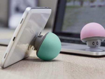 Blutooth Lautsprecher mit Saugnapf bei Lidl im Toad Design, als Smartphone Stütze verwendbar