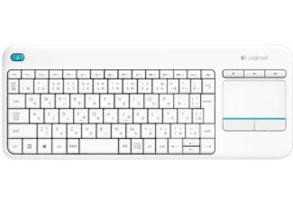 Logitech K400 Plus Wireless Touch Tastatur DE weiß für 19,-€ [Mediamarkt]