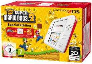 Nintendo 2DS (Weiß/Rot) + New Super Mario Bros. 2 (Special Edition) für 69,99€ versandkostenfrei (Saturn & Amazon)