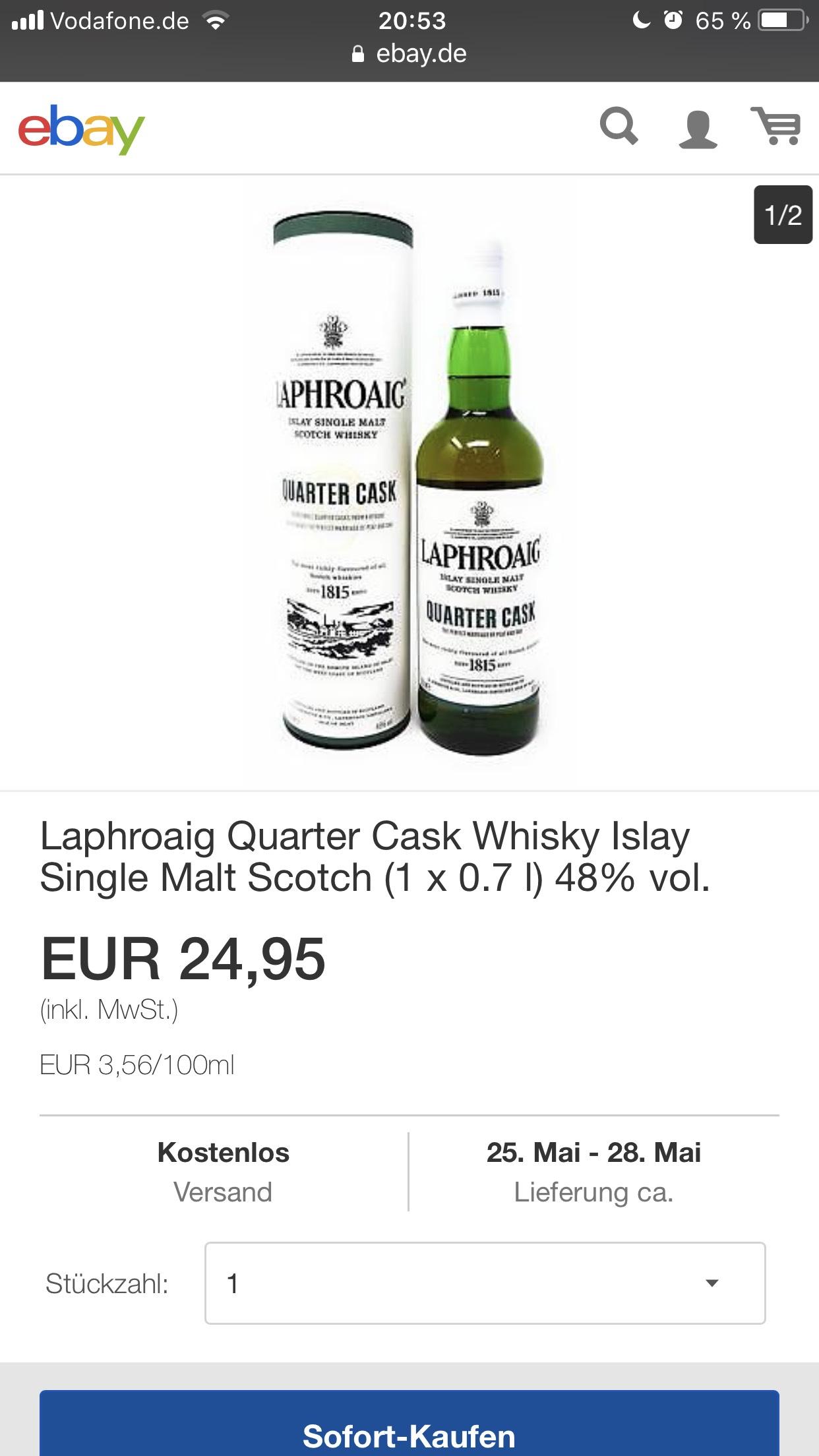 Laphroaig Quarter Cask Whisky