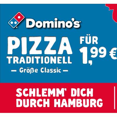 [Domino's Hamburg] Pizza für 1,99€ bei Abholung (Jeder Tag ein anderer Store) bis 14.06.
