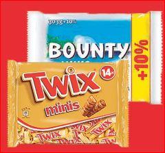Twix Minis (303 g) und Bounty Minis (330 g), die Packung für 1,29 Euro [Jawoll].