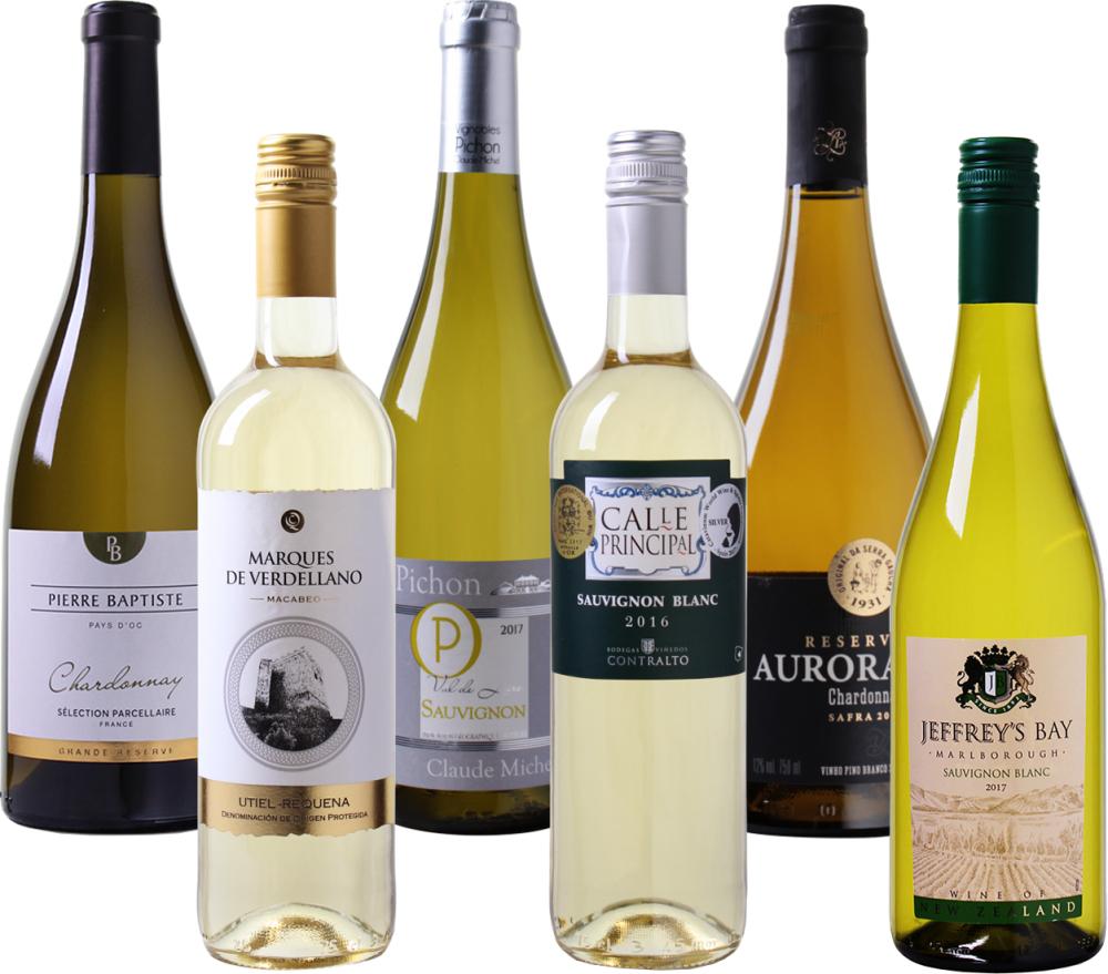 Weinvorteil - 6er Sommer-Weiß-Wein Probierpaket für nur 37,89€