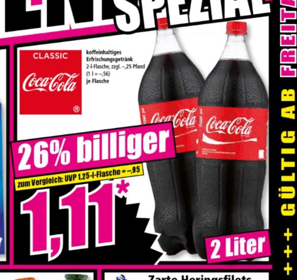 (Norma Supermarkt Offline) Coca Cola 2 Liter