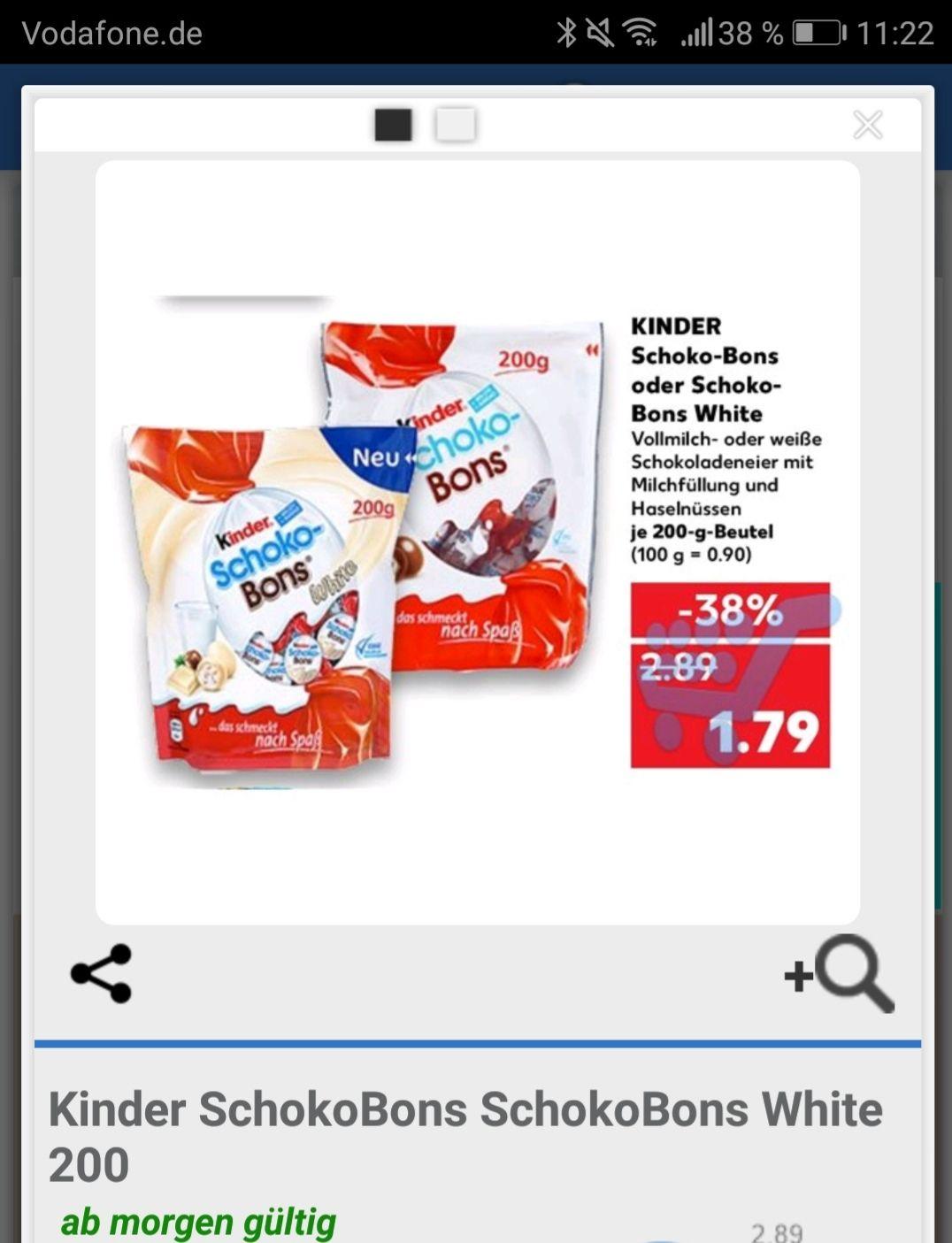 Kinder Schoko Bons + White (Kaufland ab 24.5.)