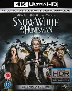 Snow White and the Huntsman - Extended Edition (4K UHD Blu-ray + Blu-ray) für 10,30€
