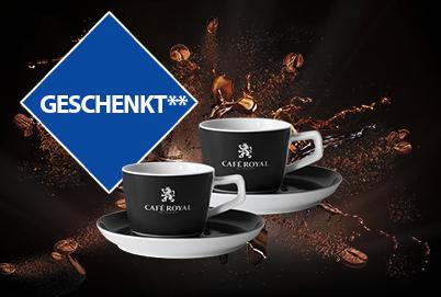 2 gratis Kaffeetassen bei MBW 50 €