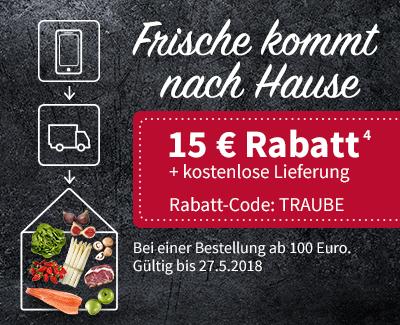 real Lebensmittel Liefershop 15 € Rabatt & kostenlose Lieferung ab 100 € Bestellwert bis 27.5.18